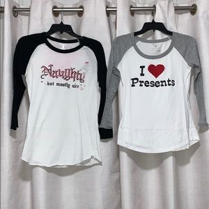 Set of two: 3/4 sleeve tops